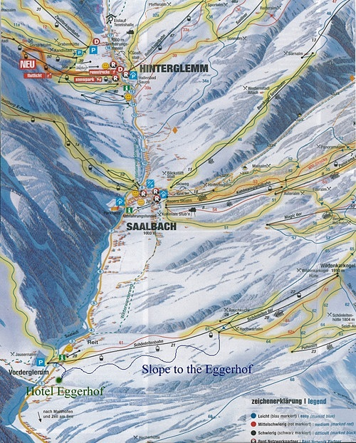 ski map to the Eggerhof