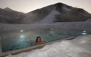 heated outdoor pool for cold winters