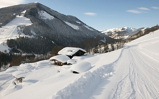 winter panorama in Saalbach-Hinterglemm-Leogang